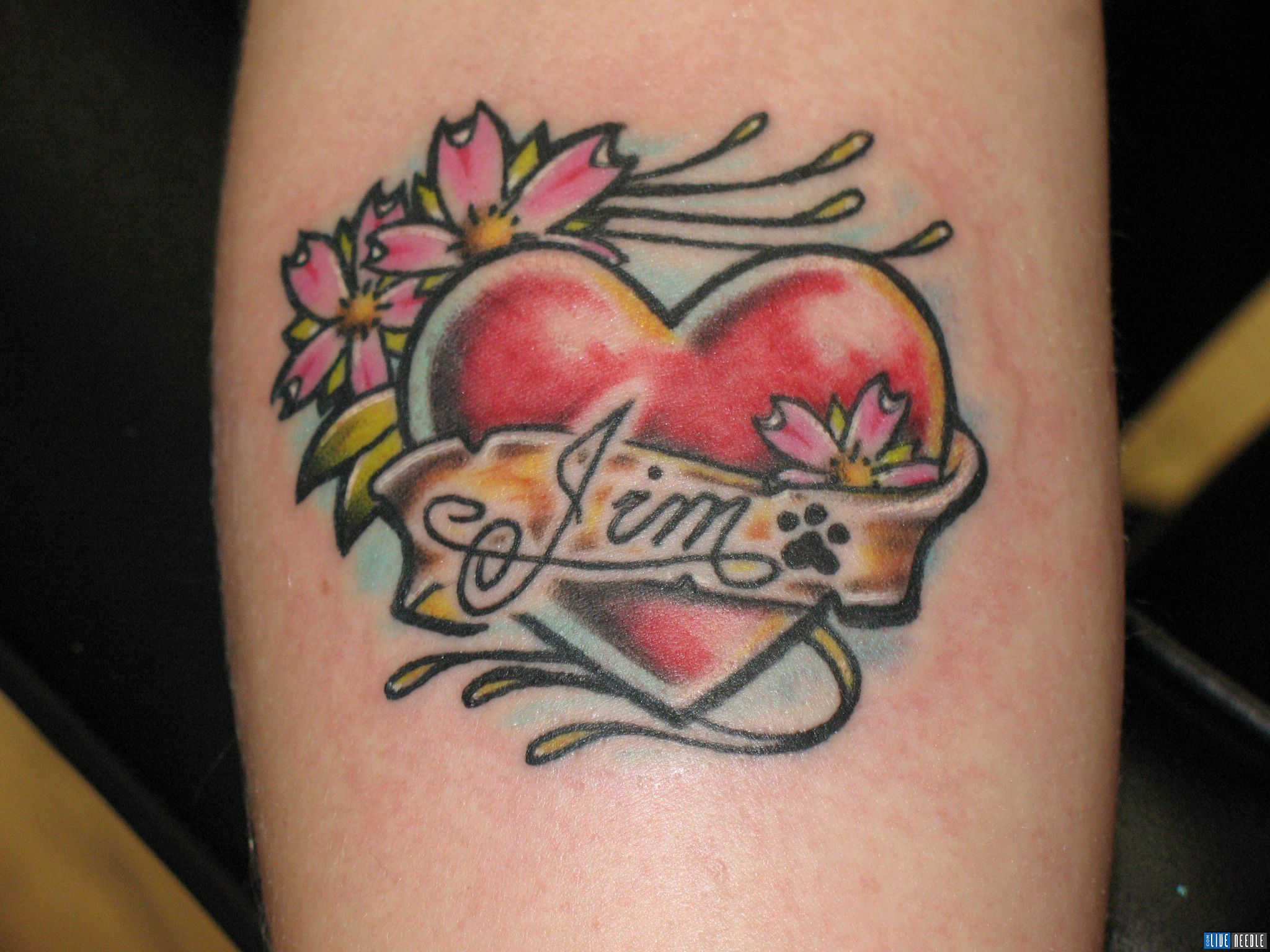 Heart Tattoo With Name Inside